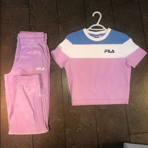 COPY - Fila T with matching velour sweatpants
